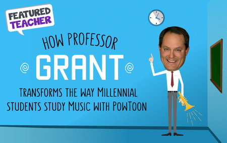 Professor-grant uses Powtoon